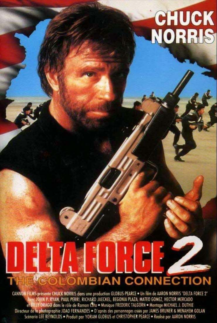 """Delta Force 2 Colombia Connection- Il Massacro (Delta Force 2: Operation Stranglehold)(Usa 1990), Aaron Norris.U.S. Posters sheet.jpg"