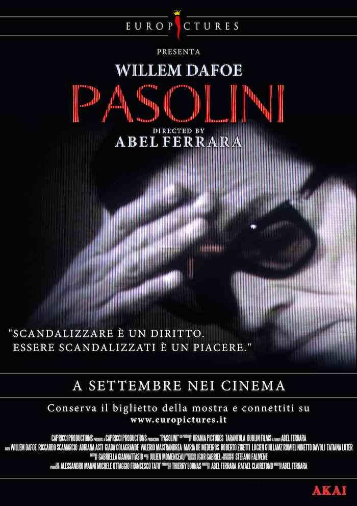 """Locandina """"Pasolini"""" di Abel Ferrara"""