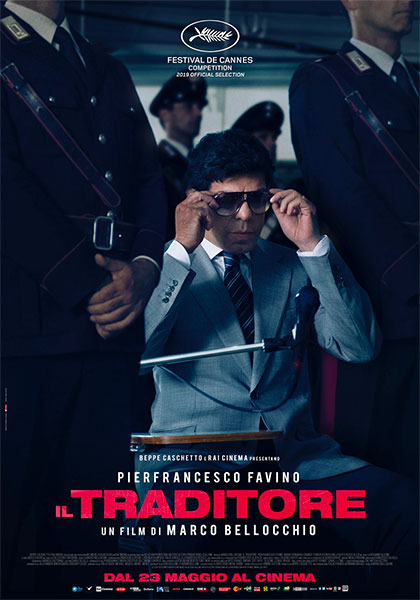 """""""Il Traditore""""(Italia 2019), Marco Bellocchio, Locandina uscita cinematografica maggio 2019 Ita."""