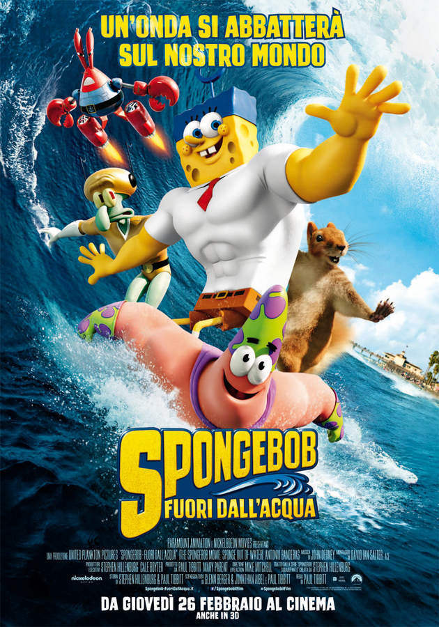 Locandina di Spongebob - Fuori dall'acqua