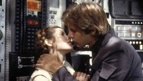 Carrie Fisher e Harrison Ford in Guerre Stellari