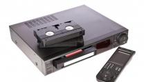 un vecchio videoregistratore
