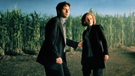 David Duchovny e Gillian Anderson in una scena di X-Files