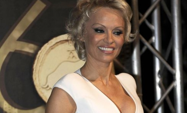 Pamela Anderson a Taormina