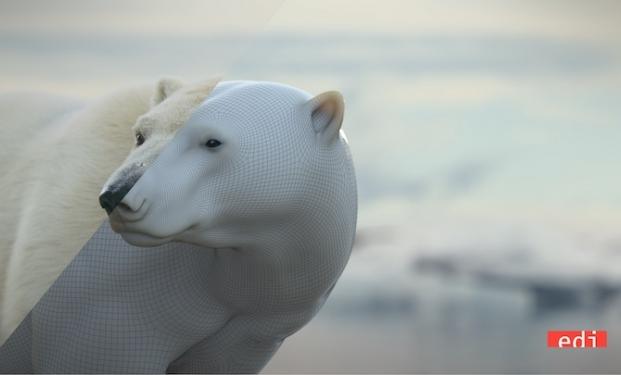 Orso polare ricostruito da EDI Effetti Digitali Italiani