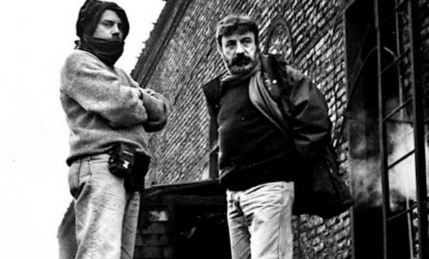 Gianni Amelio e Luca Bigazzi sul set del film Lamerica