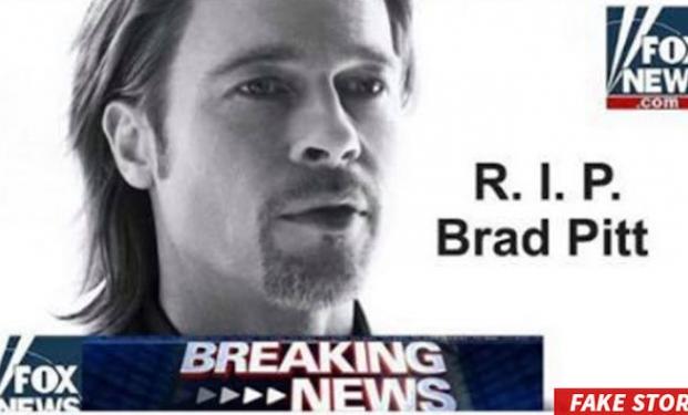 Brad Pitt in una falsa notizia