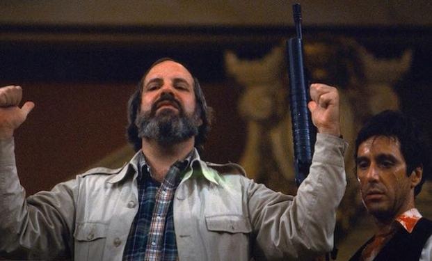 Brian De Palma e Al Pacino sul set di Scarface