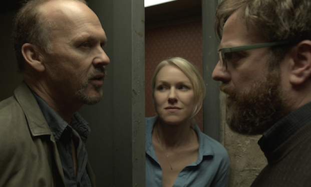 "Michael Keaton, Naomi Watts e Zach Galifianakis in ""Birdman"""