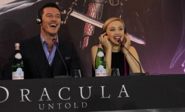 "Luke Evans e Sarah Gadon alla conferenza stampa di ""Dracula Untold"""