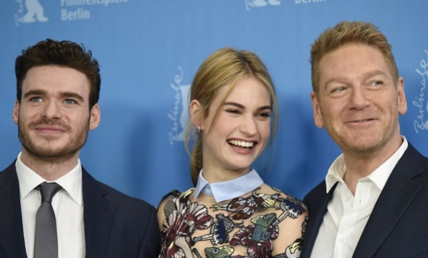 Il cast di Cenerentola: Richard Madden, Lily James, Kenneth Branagh