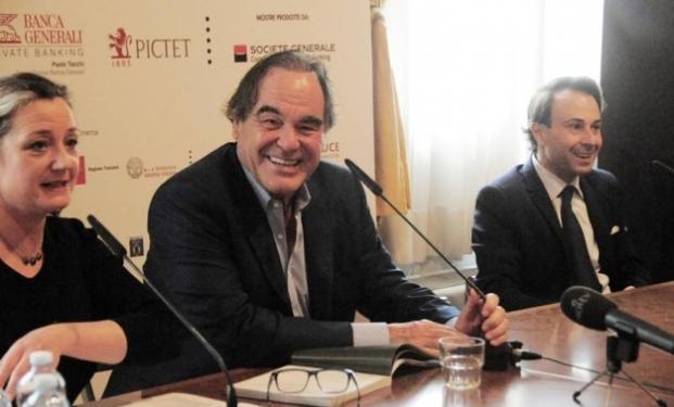 Oliver Stone, conferenza stampa 6/4/2017, Fondazione Ragghianti