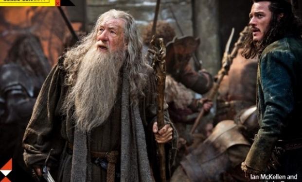 Gandalf e Bard nel terzo capitolo di Lo Hobbit