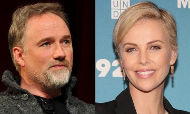 David Fincher e Charlize Theron
