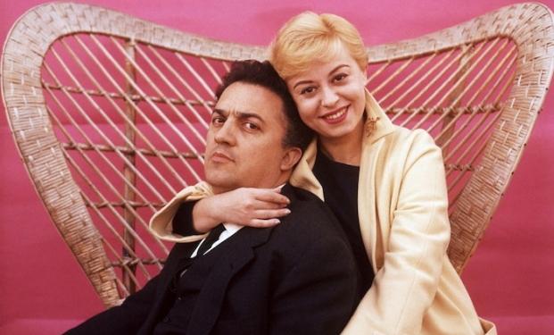 Federico Fellini con Giulietta Masina