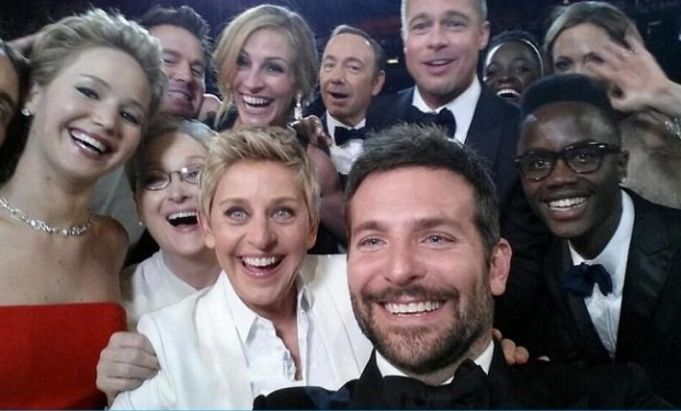 La mitica selfie degli Oscar 2014