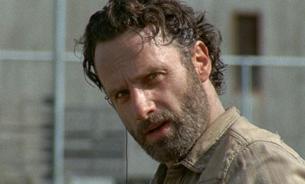 Andrew Lincoln nel ruolo di Rick Grames