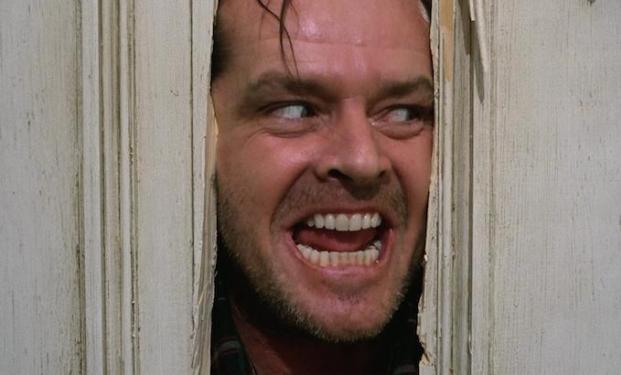 """Jack Nicholson e la sua follia in """"Shining"""""""