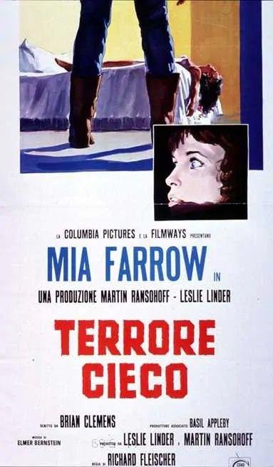 """Terrore cieco"" locandina cinematografica italiana 1971 Columbia Pictures"