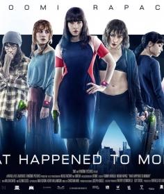 """What Happened to Monday"" (Seven Sisters) (G.B./Usa/Norvegia 2017), Tommy Wirkola. Netflix original U.S. advertising"