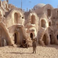 Star Wars scena ambientata a Tatooine