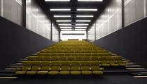La sala cinematografica alla Fondazione Prada