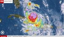 Il previsto uragano nel video meteo della CNN
