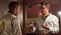 Nicolas Winding Refn con Ryan Gosling sul set di Drive