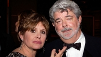 Carrie Fisher e George Lucas