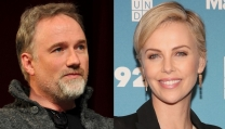 David Fincher e Charlize Theron