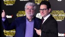 George Lucas e J.J. Abrams all'anteprima mondiale