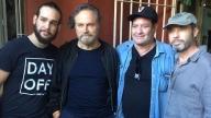 Da destra il regista Paolo Consorti e gli attori Jorge Perugorria, Franco Nero e Andros Perugorria