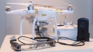 Drone DJI con smartglass Moverio BT300