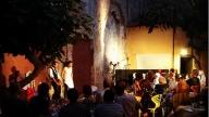 Il giardino del cinema teatro Lux a Pisa