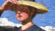 Particolare di Mezzogiorno sulle Alpi di Giovanni Segantini