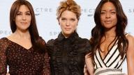 Tre delle quattro Bond girls, da sinistra Bellucci, Seydoux, Harris