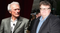 Clint Eastwood e Michael Moore