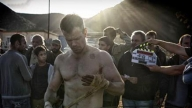 Matt Damon sul set del nuovo Bourne