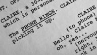il testo di una sceneggiatura
