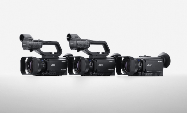 Le tre nuove videocamere ultracompatte Sony XDCAM® PXW-Z90, il NXCAM® HXR-NX80 e l'Handycam® FDR-AX700