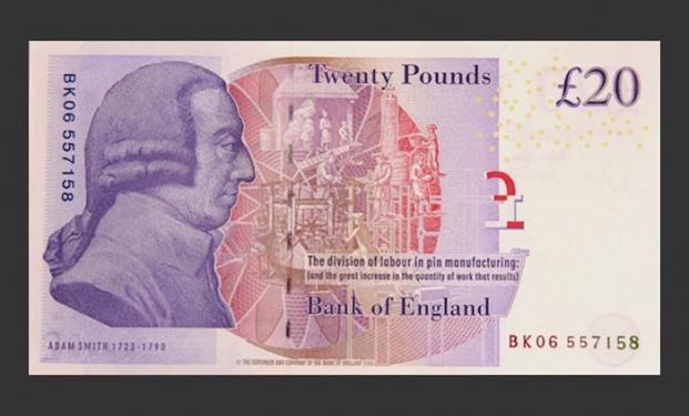 banconota inglese da 20 sterline