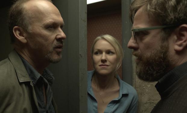 "Michael Keaton, Naomi Watts e Zach Galifianakis in ""Birdman"""