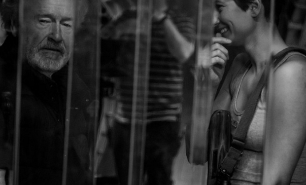 Ridley Scott e Katherine Waterston