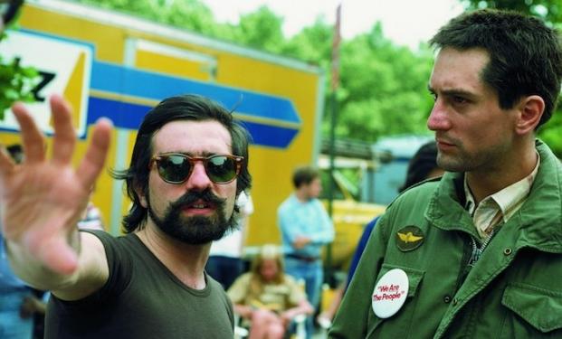 Martin Scorsese con Robert De Niro sul set di Taxi Driver