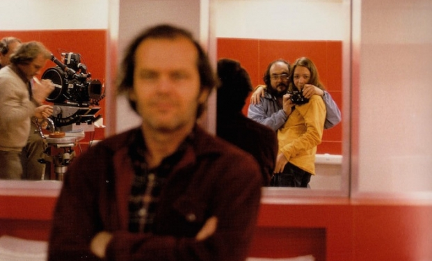 Stanley Kubrick sul set di Shining
