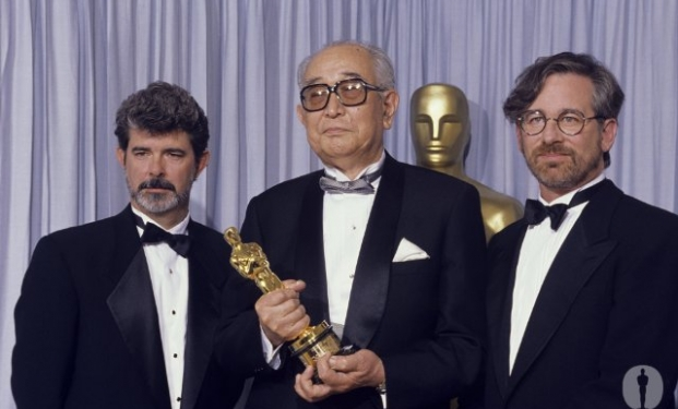 Akira Kurosawa premiato agli Oscar da George Lucas e Steven Spielberg