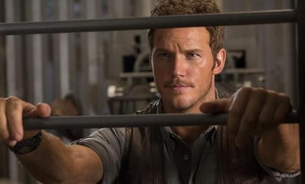Chris Pratt dal set di Jurassic World