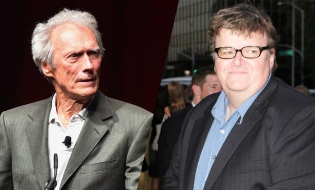Clint Eastwood e Michael Moore