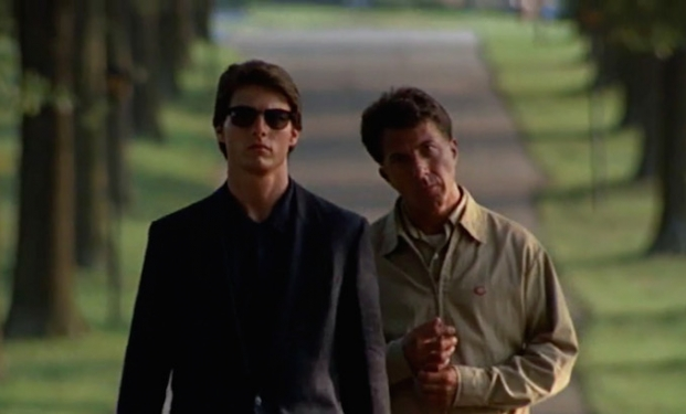 "Tom Cruise e Dustin Hoffman, fratelli in ""Rain Man"""