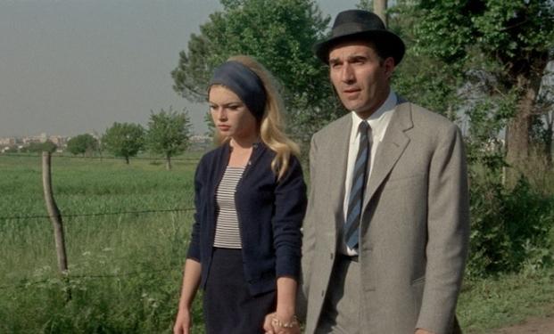 Brigitte Bardot e Michel Piccoli in Il disprezzo
